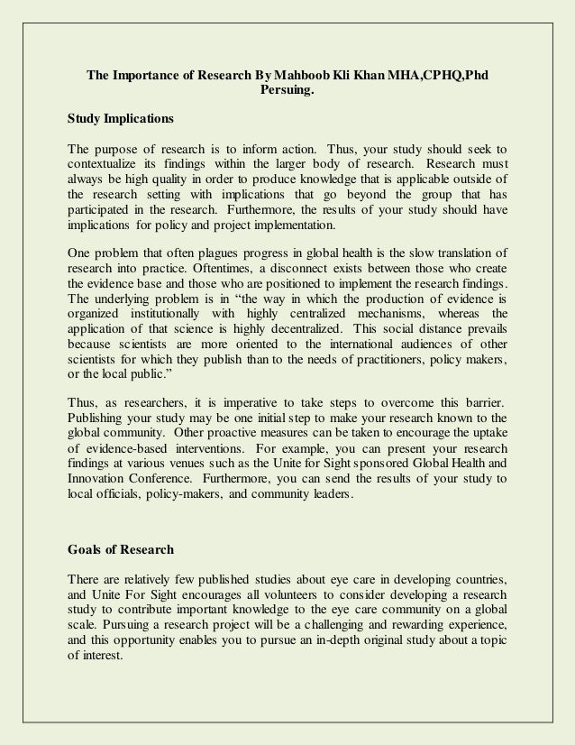 important qualities of a research paper