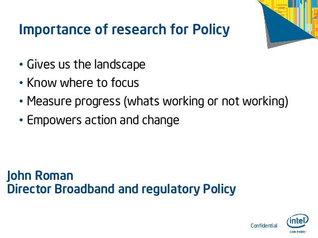 Importance of research for policy