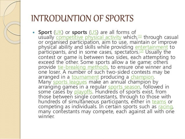 short essay on sports in india ' ' -.