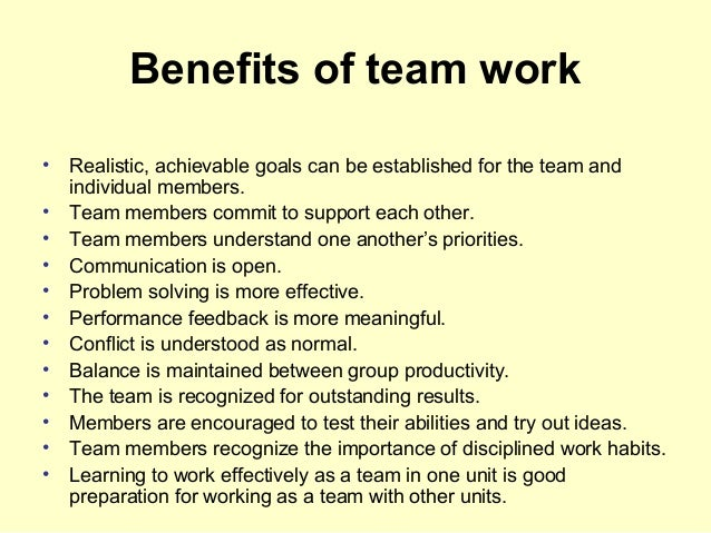 team development essay In organizations, teams work together on common goals, often benefiting a   some companies use team building exercises to develop the.