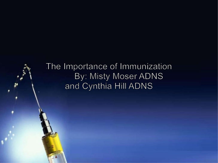 Importance of vaccination