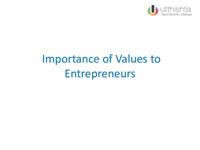 Importance of Values to Entrepreneurs
