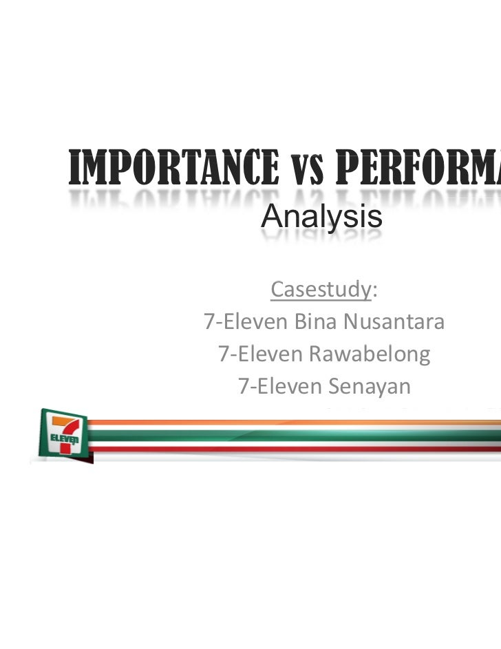 Importance Performance Analysis for 7-eleven