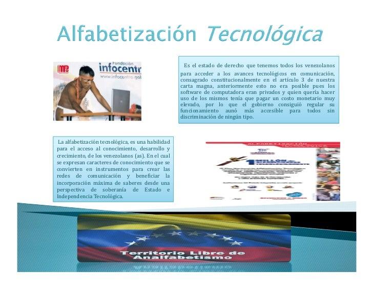 Importancia de la alfabetización tecnológica en venezuela.