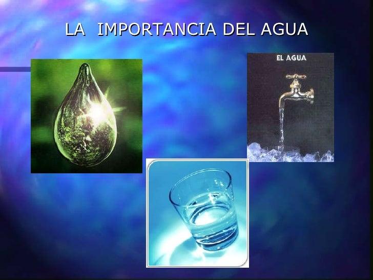 la Importancia Del Agua Para la Vida Importancia Del Agua Para el