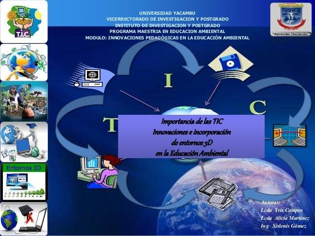 UNIVERSIDAD YACAMBU  VICERRECTORADO DE INVESTIGACION Y POSTGRADO  INSTITUTO DE INVESTIGACION Y POSTGRADO  PROGRAMA MAESTRI...