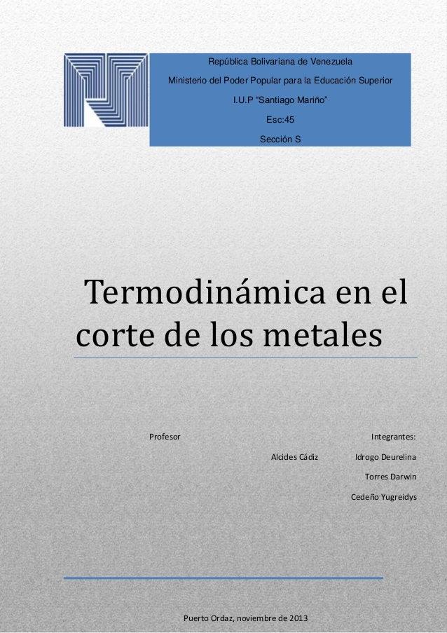 Importancia de la variables de corte(termodinamica)