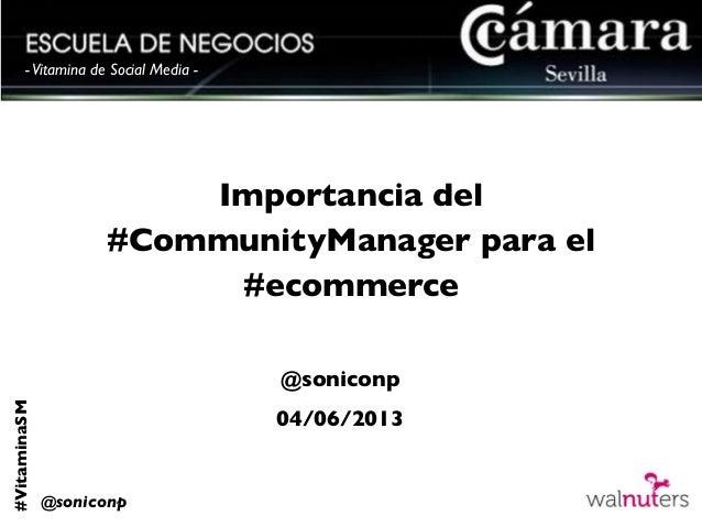 Importancia del community manager para el e commerce de la empresa