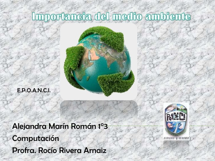 E.P.O.A.N.C.I.Alejandra Marín Román 1°3ComputaciónProfra. Rocío Rivera Arnaiz