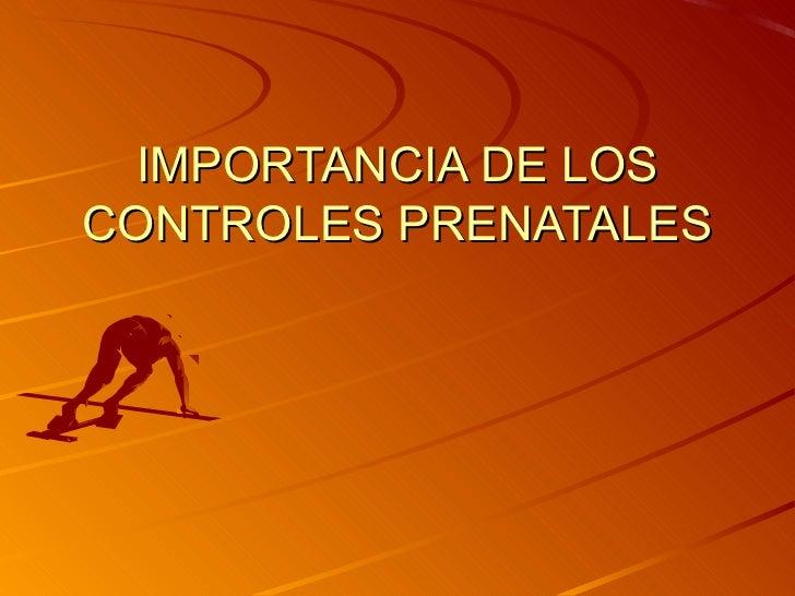 Importancia de los controles prenatales