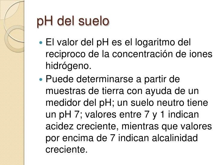 Importancia del p h del suelo for Importancia de los suelos