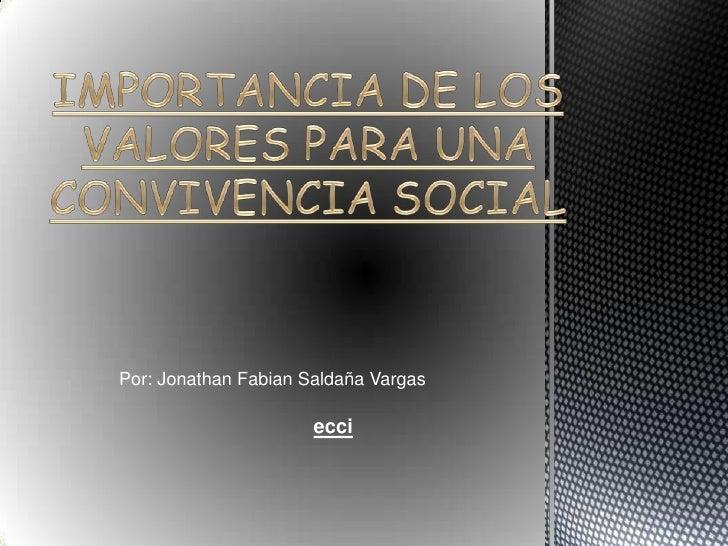 Por: Jonathan Fabian Saldaña Vargas                      ecci