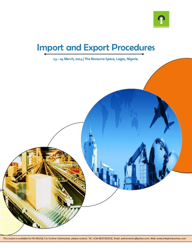 export import policies procedures and documentation Understanding of the export procedures and documentation  import documentation  our class will help generate accurate export documents, help you navigate the.