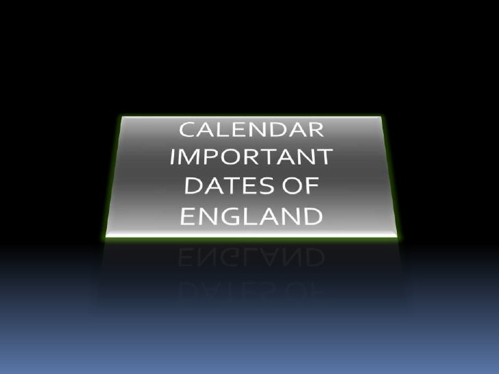 Important days of england