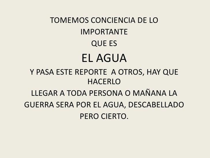 Importante alerta sobre  el agua