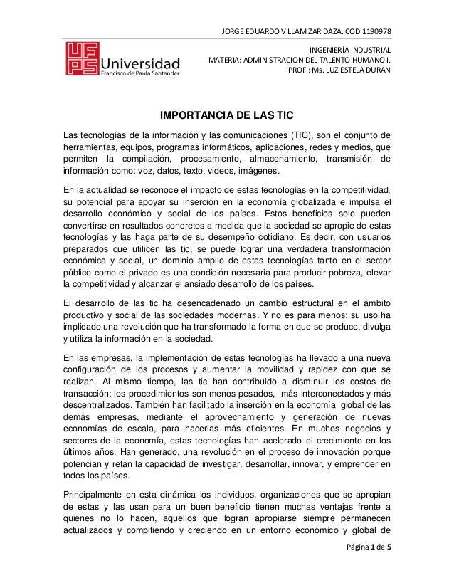 JORGE EDUARDO VILLAMIZAR DAZA. COD 1190978                                                             INGENIERÍA INDUSTRI...