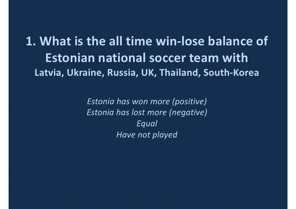 Important in estonia