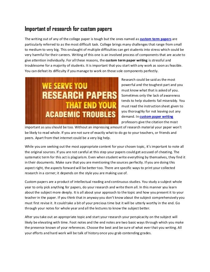 Model Research Papers . Writer's Guide