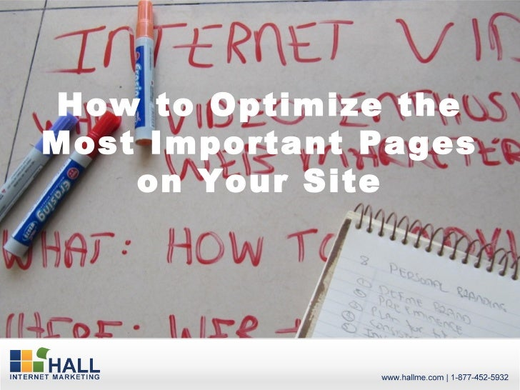 How to Optimize theMost Important Pages    on Your Site