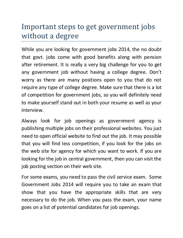 how to get good jobs without degree