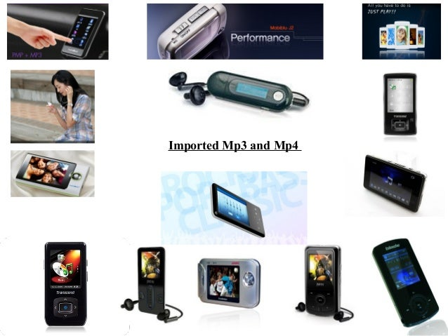 Imported mp3 & mp4 players final
