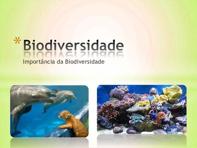*    Importância da Biodiversidade