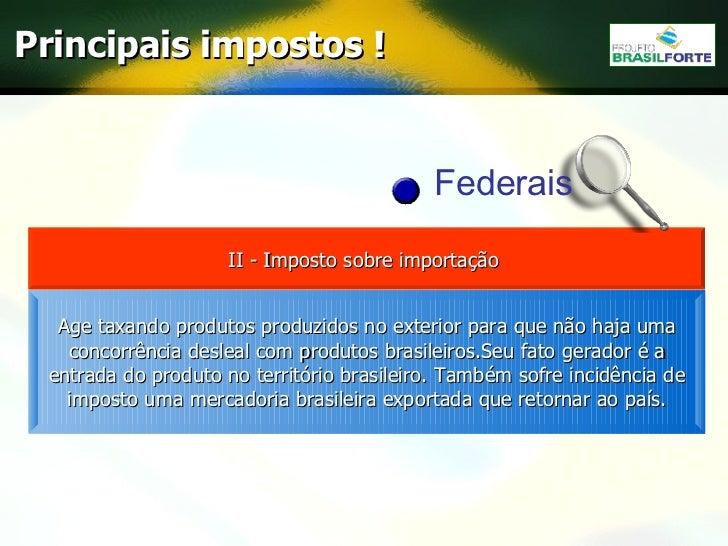 Taxas Impostos E Tributos Brasileiros