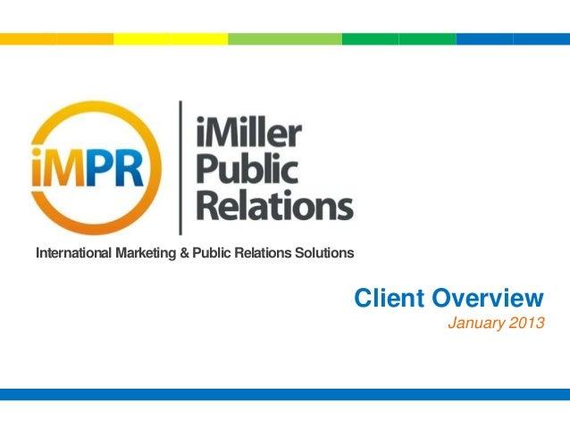 I mpr client overview   jan 14 2013