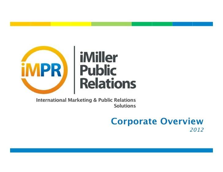 iMiller Public Relations - International Public Relations for Telecom Companies