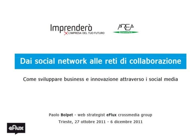 Dai social network alle reti di collaborazione. Come sviluppare business e innovazione attraverso i social media