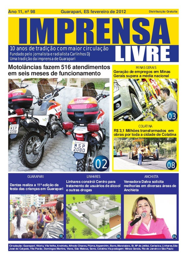 Ano 11, nº 98                                Guarapari, ES fevereiro de 2012                                              ...