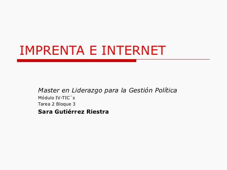 Imprenta e internet