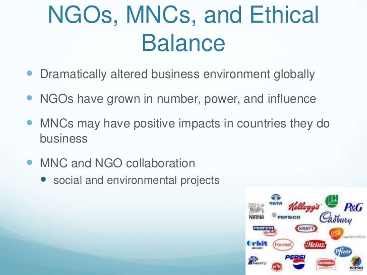 To what extent does NGOs operate like MNCs? 10 points?