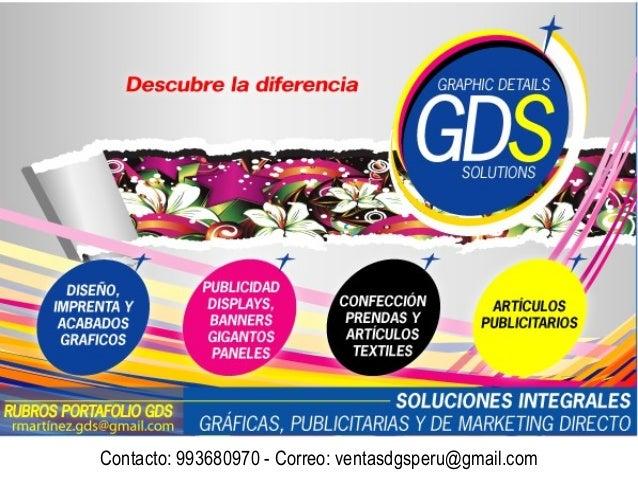Contacto: 993680970 - Correo: ventasdgsperu@gmail.com