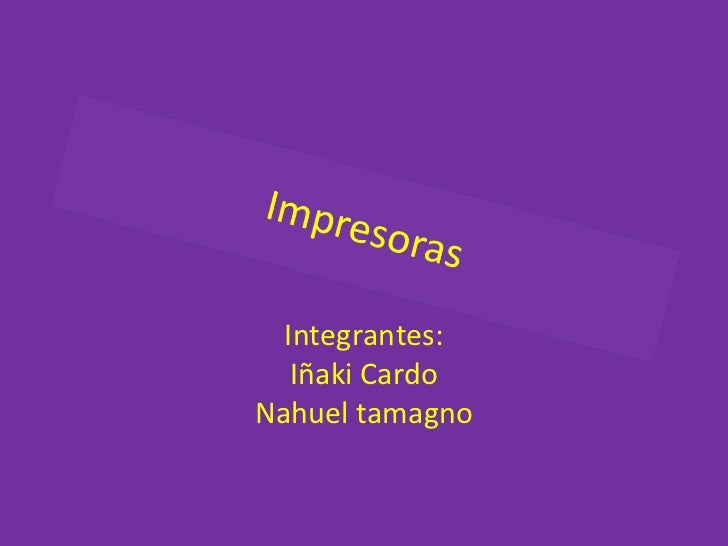 Integrantes: Iñaki Cardo Nahuel tamagno