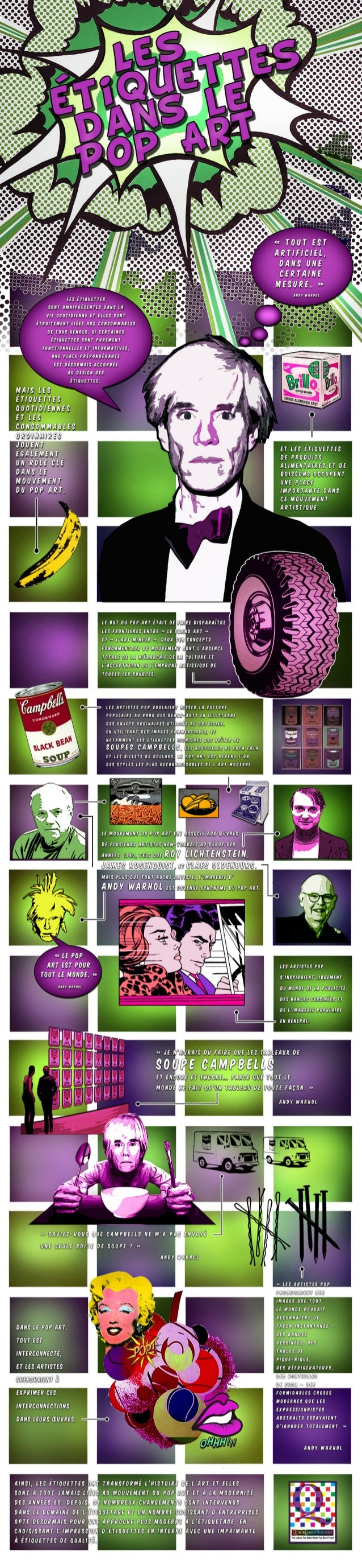 Impression d'étiquettes et Pop Art par QuickLabel