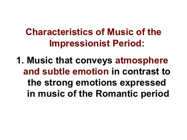 a report on the impressionistic period