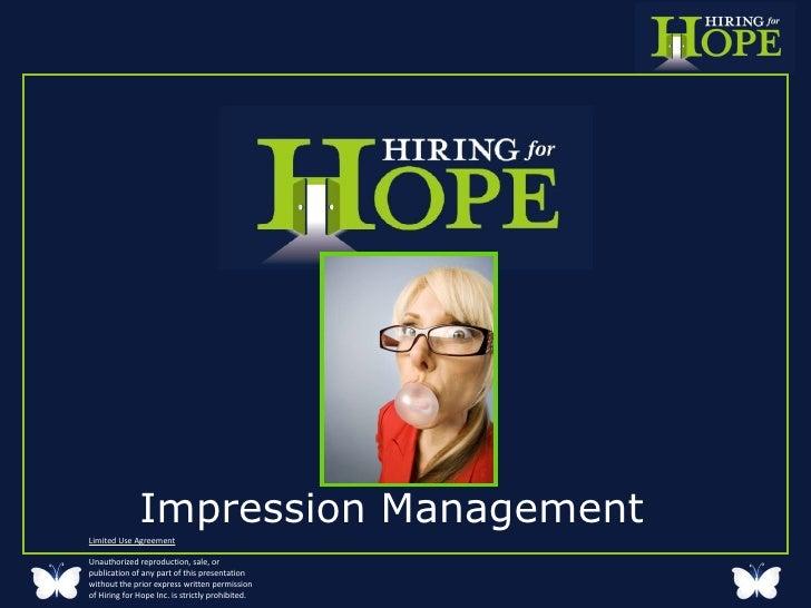 Impression  Management  Final For Voice Over