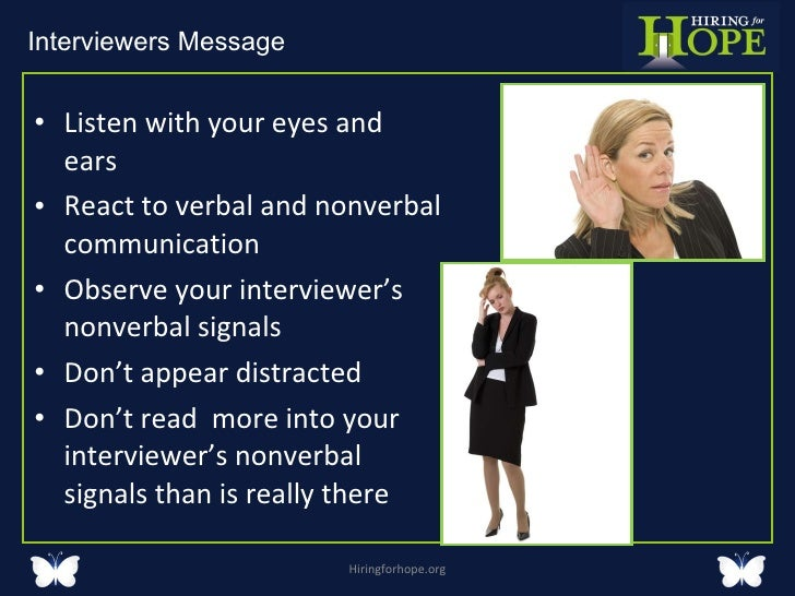 communication interviewer Strategies of effective interviewing the interviewer is a succinct summary of information from time to time not only allows for clarity in the communication.