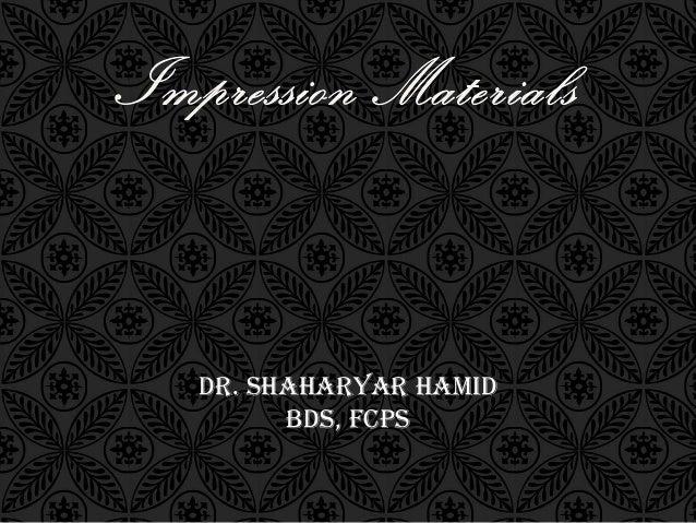 DR. SHAHARYAR HAMIDBDS, FCPS