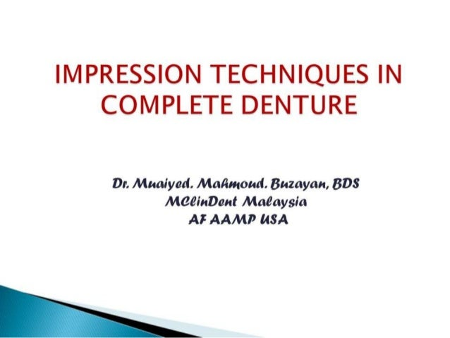 Impression  tech cd for fourth years