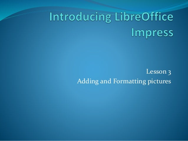 Libre Office Impress Les