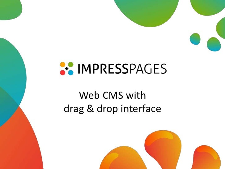 Web CMS with drag & drop interface<br />