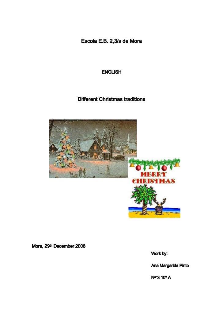 Different Christmas traditions (diferentes tradições de Natal) - trabalho de inglês