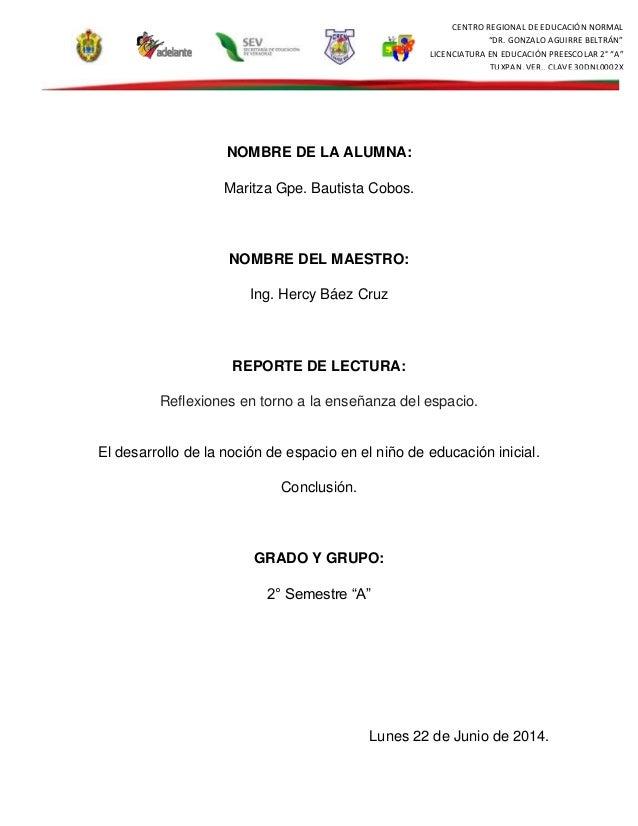 "CENTRO REGIONAL DE EDUCACIÓN NORMAL ""DR. GONZALO AGUIRRE BELTRÁN"" LICENCIATURA EN EDUCACIÓN PREESCOLAR 2° ""A"" TUXPAN, VER...."