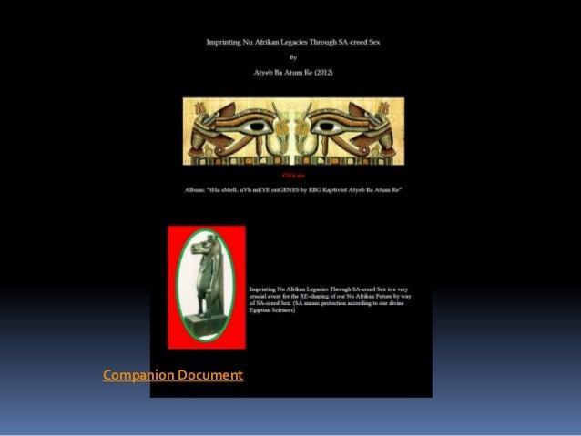 Imprinting Nu Afrikan Legacies Through SA-CREED SEX by Atyeb Ba Atum Re