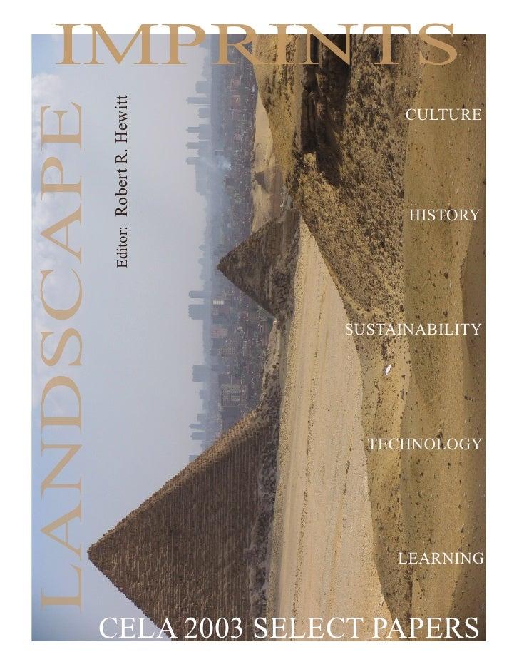 Imprints CELA 2nd Edition2010