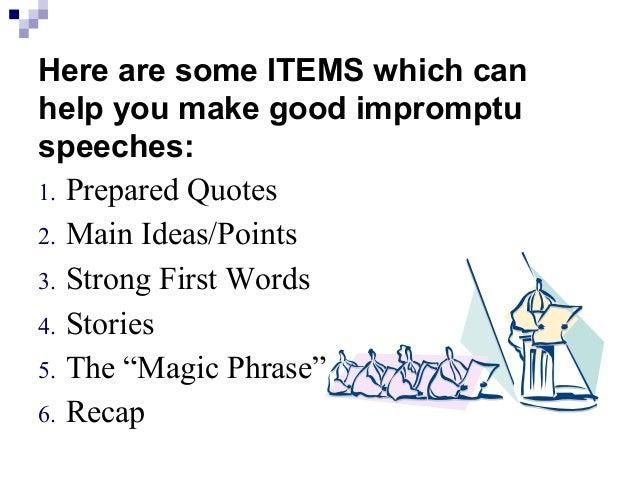 How to write an impromptu speech