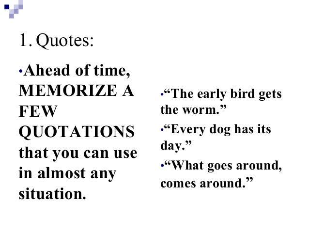 Impromptu Essay Examples