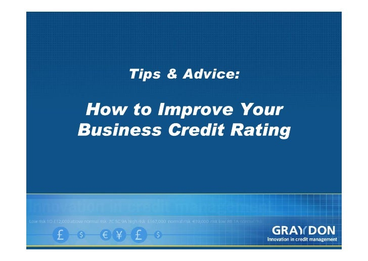 Improve Business Credit Rating